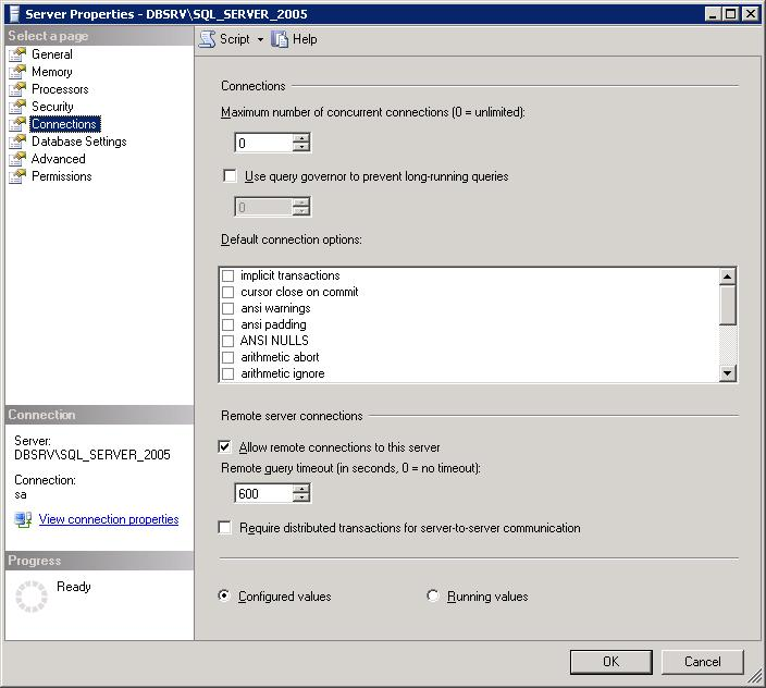 SQL Server does not Allow Remote Connections [Migration by Ispirer