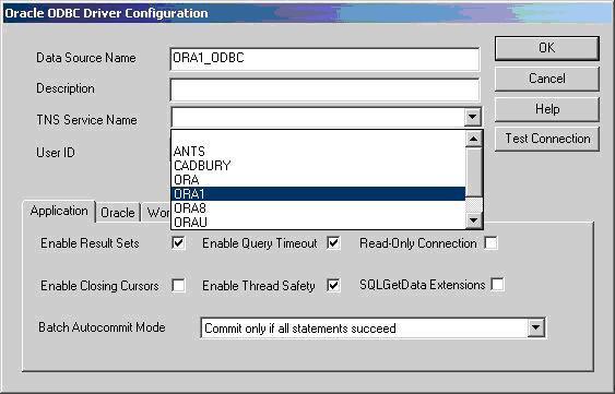 Windows odbc driver oracle