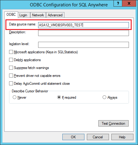 ODBC SQL ANYWHERE DRIVER WINDOWS