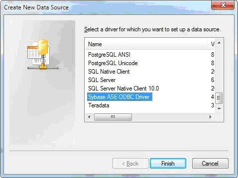 SYBASE ASE 15 ODBC DRIVER FOR WINDOWS DOWNLOAD