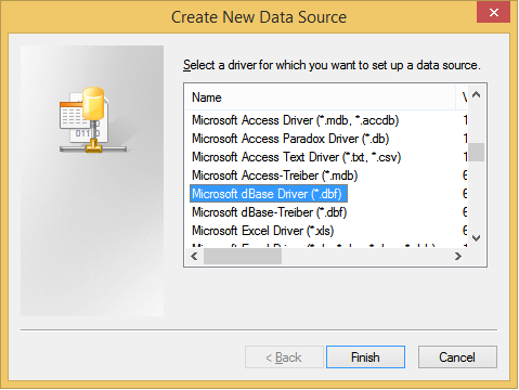 MICROSOFT DBASE DRIVER FOR WINDOWS 10