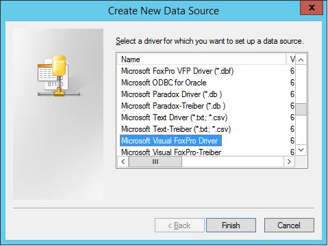 Odbc 64 microsoft visual foxpro bit driver