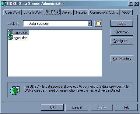 Connection Using the DSN File [Migration by Ispirer SQLWays]